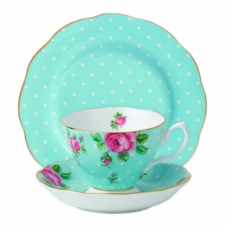 Polka Blue 3-piece Place Setting