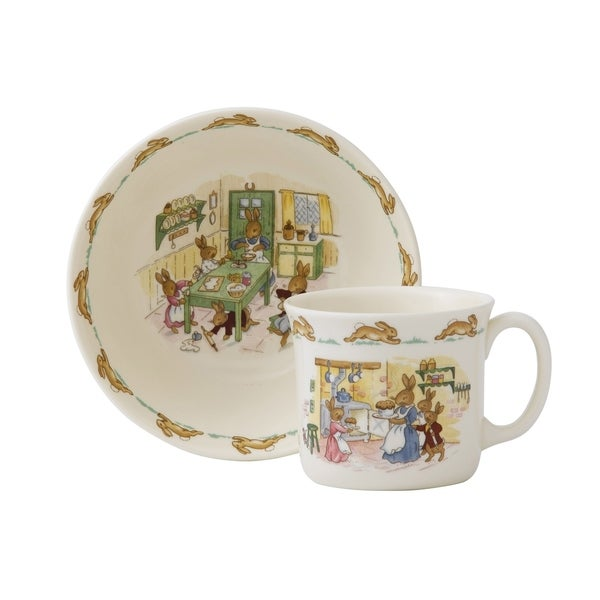 Bunnykins 2-Piece Infant Bowl and Mug. Opens flyout.