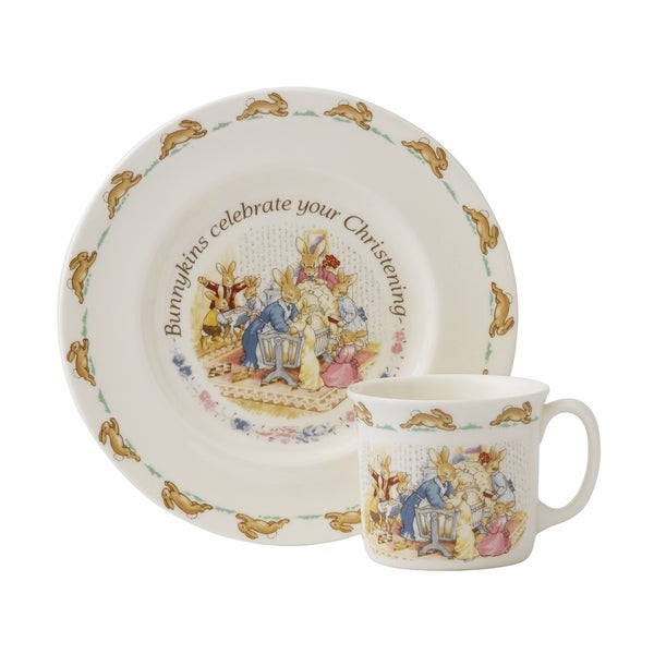 Bunnykins 2-Piece Christening Plate and Mug. Opens flyout.