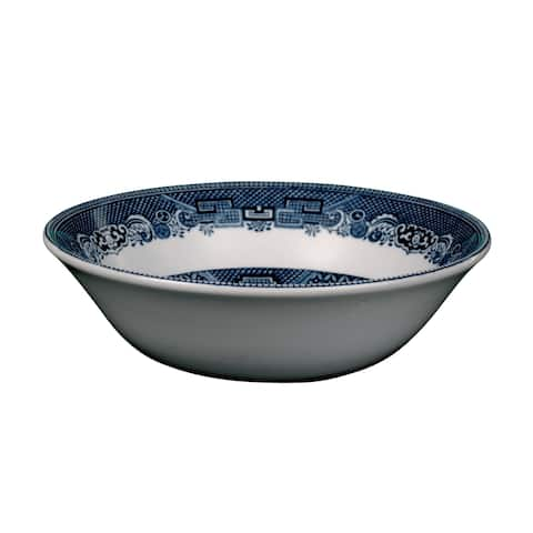 Willow Blue Round Open Vegetable Bowl