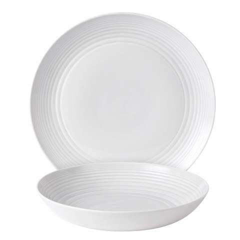 Maze White 2-piece Serving Set