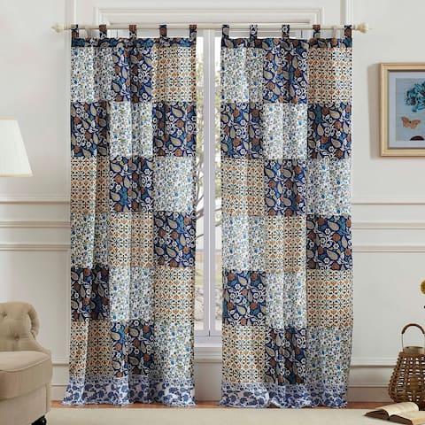Greenland Home Fashions Pandora Blue Curtain Panel Pair