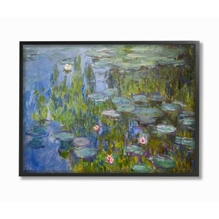 The Stupell Home Decor Collection Monet Impressionist Lilly Pad Pond Painting, 11 x 14, Proudly Made in USA - Multi-Color