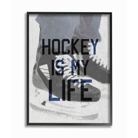 The Kids Room by Stupell Hockey Is My Life Ice Skates, 11 x 14, Proudly Made in USA - Multi-Color