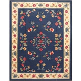 Handmade One-of-a-Kind Wool Kilim (India) - 9'2 x 12'