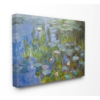 The Stupell Home Decor Collection Monet Impressionist Lilly Pad Pond Painting, 16 x 20, Proudly Made in USA - Multi-Color