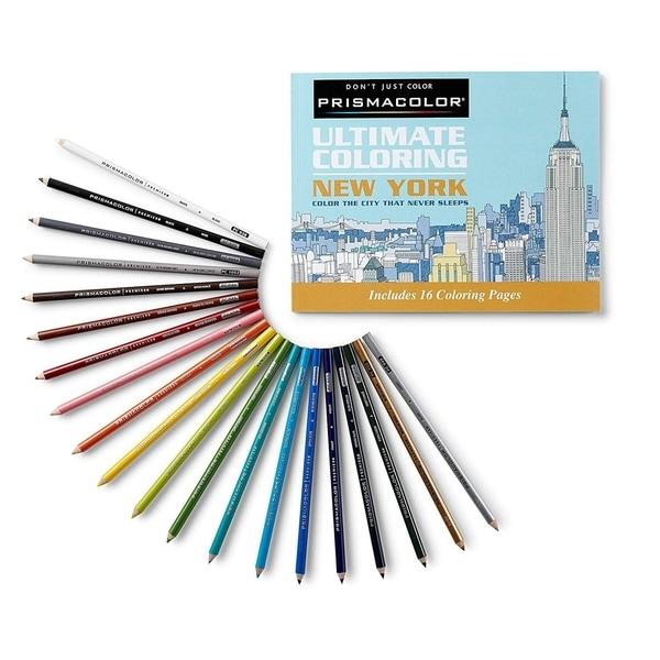 - Shop Black Friday Deals On Prismacolor Premier Soft Core Pencils Adult Coloring  Book Kit, New York City, 21 Pieces - Overstock - 28274002