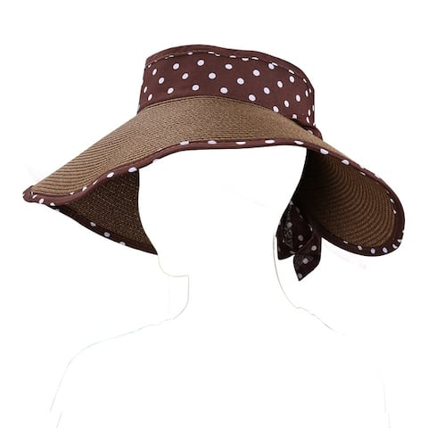 Women Floppy Sun Beach Straw Hats Wide Brim Foldable Packable