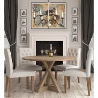 Finch Alfred Round Dining Table, Rustic Beige