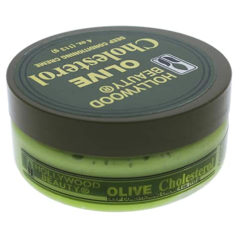Olive Cholesterol Deep Conditioning Creme Hollywood Beauty for Unisex 4-ounce Cream
