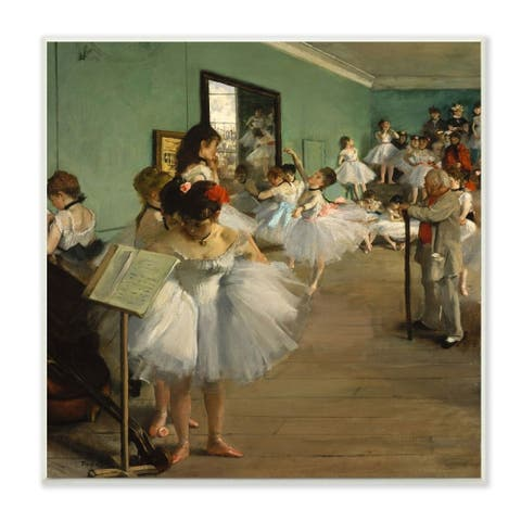 The Stupell Home Decor Collection Degas The Dance Class Ballet Classical Painting, 12 x 12, Proudly Made in USA