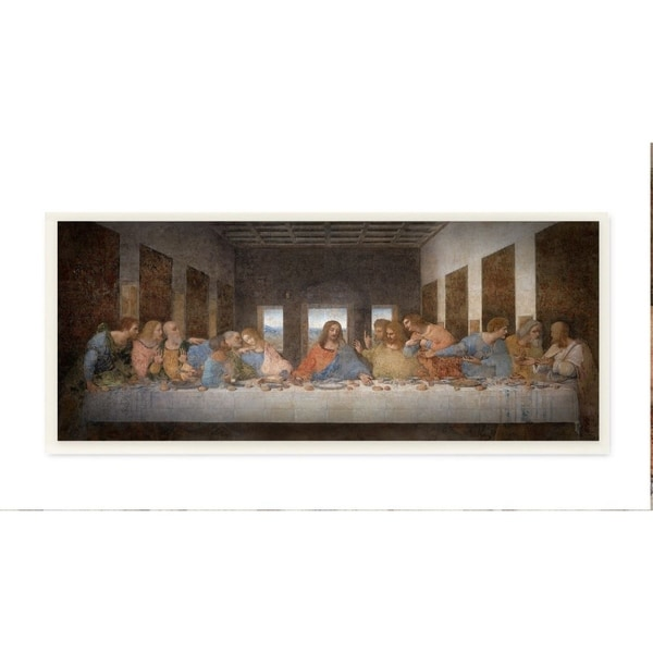 The Stupell Home Decor Collection Da Vinci The Last Supper Religious Classical Painting, 7 x 17, Proudly Made in USA