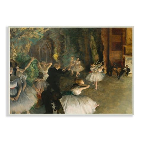 The Stupell Home Decor Collection Degas The Rehearsal of the Ballet Painting, 10 x 15, Proudly Made in USA - Multi-Color