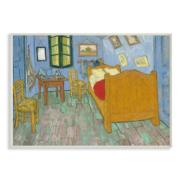 The Stupell Home Decor Collection Van Gogh The Bedroom Post Impressionist Painting, 10 x 15, Proudly Made in USA - Multi-Color