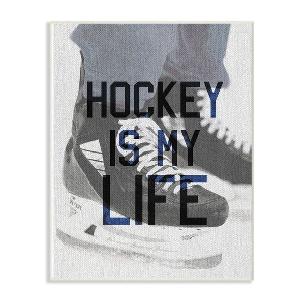 The Kids Room by Stupell Hockey Is My Life Ice Skates, 10 x 15, Proudly Made in USA - Multi-Color