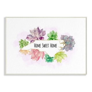 The Stupell Home Decor Collection North Carolina State Home Sweet Home Succulent Vignette, 10 x 15, Proudly Made in USA