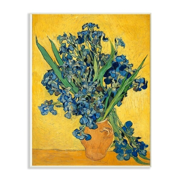 The Stupell Home Decor Collection Van Gogh Irises Post Impressionist Painting, 10 x 15, Proudly Made in USA - Multi-Color