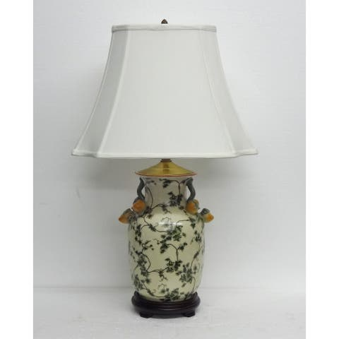 Green Ivy Scroll Pattern Lamp