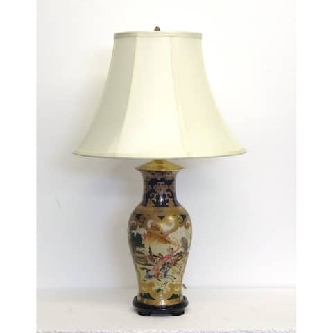 Green & Gold Scroll French Pattern Lamp