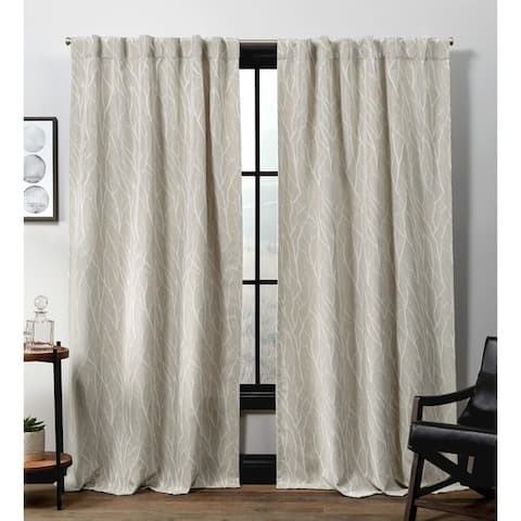 ATI Home Forest Hill Woven Hidden Tab Top Sheer Panel Pair