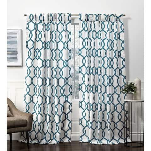 Carson Carrington Tennsatter Linen Blend Pinch Pleat Curtain Panel Pair