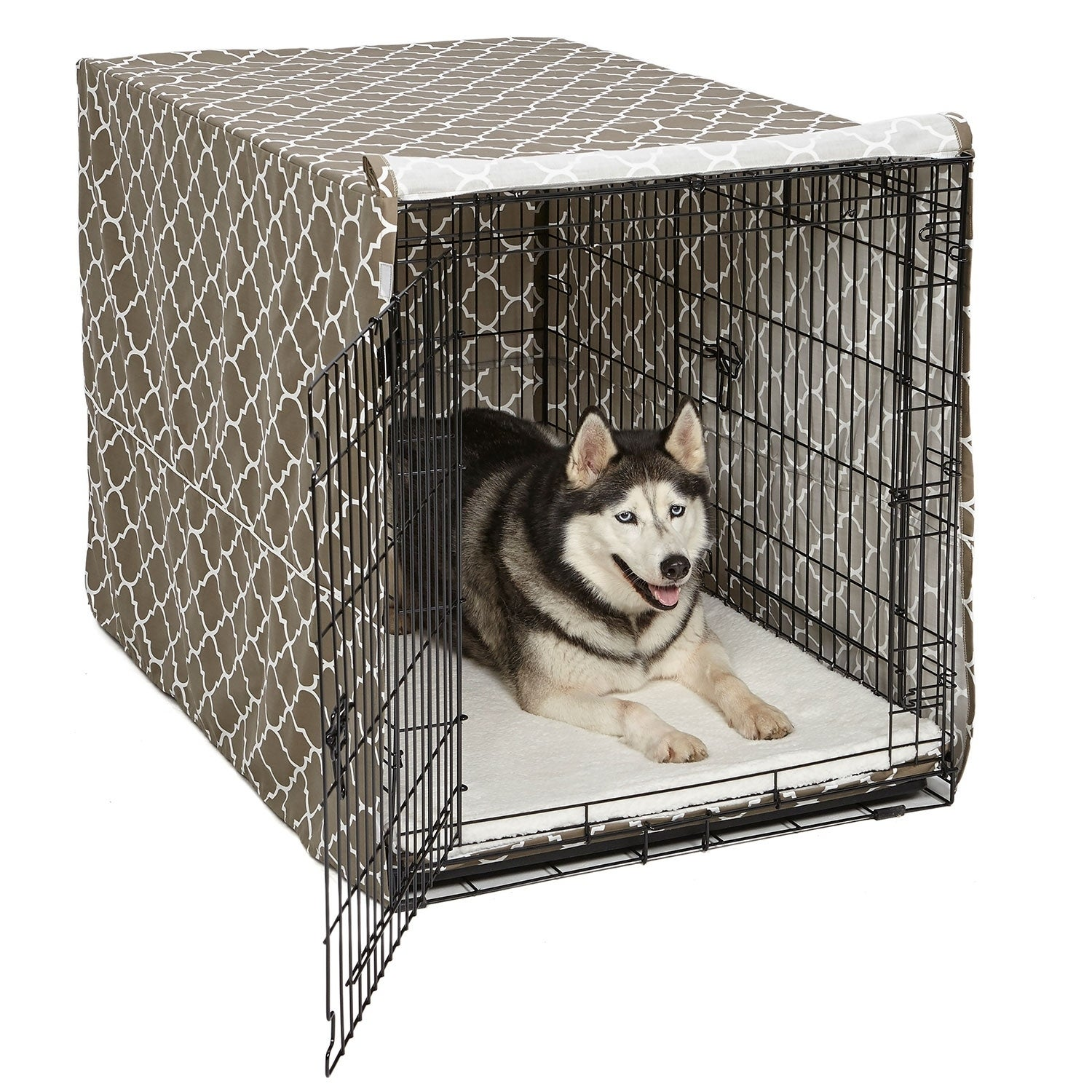 QuietTime Defender Covella Dog Crate Cover (grey - 24 inch crate)