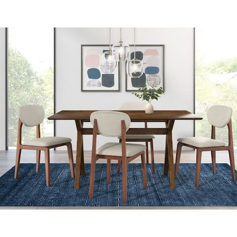 Adore Decor Lukas Wood Dining Table, Brown - N/A - N/A