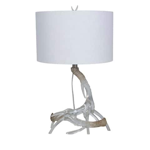"Lamps Per Se 24.5"" Clear Resin Antler Table Lamp Set - 24.5"