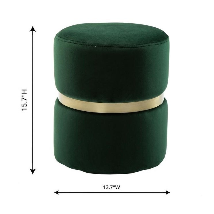 Enjoyable Silver Orchid Basquette Forest Green Velvet Ottoman Theyellowbook Wood Chair Design Ideas Theyellowbookinfo
