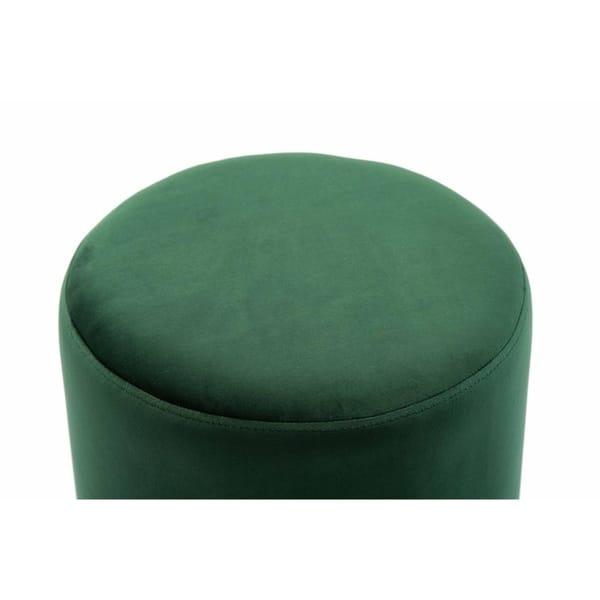 Tremendous Shop Pri Forest Green Velvet Ottoman Free Shipping Today Theyellowbook Wood Chair Design Ideas Theyellowbookinfo
