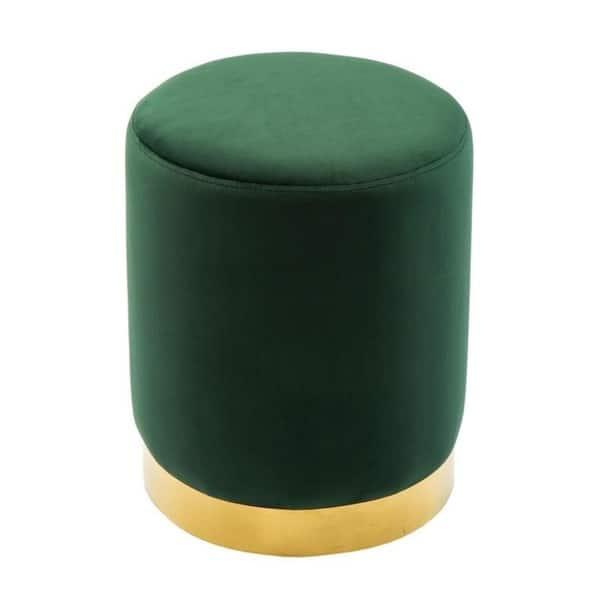Super Shop Pri Forest Green Velvet Ottoman Free Shipping Today Theyellowbook Wood Chair Design Ideas Theyellowbookinfo