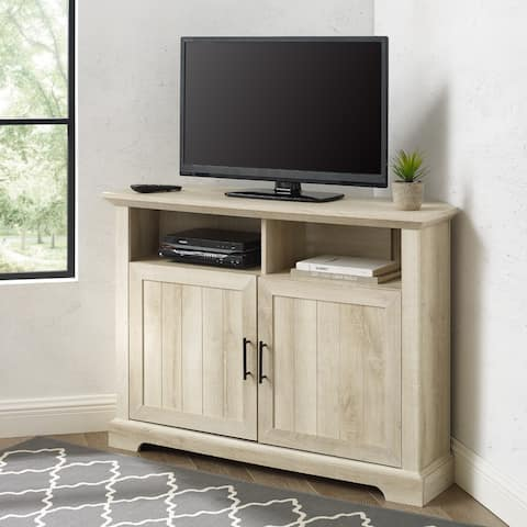 "The Gray Barn 44"" Grooved Door Corner TV Stand Console - 44 x 16 x 32H"