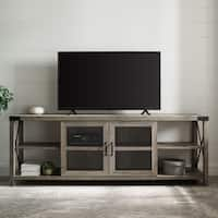 "The Gray Barn 70"" Metal X Accent TV Stand Console - 70 x 16 x 25H"