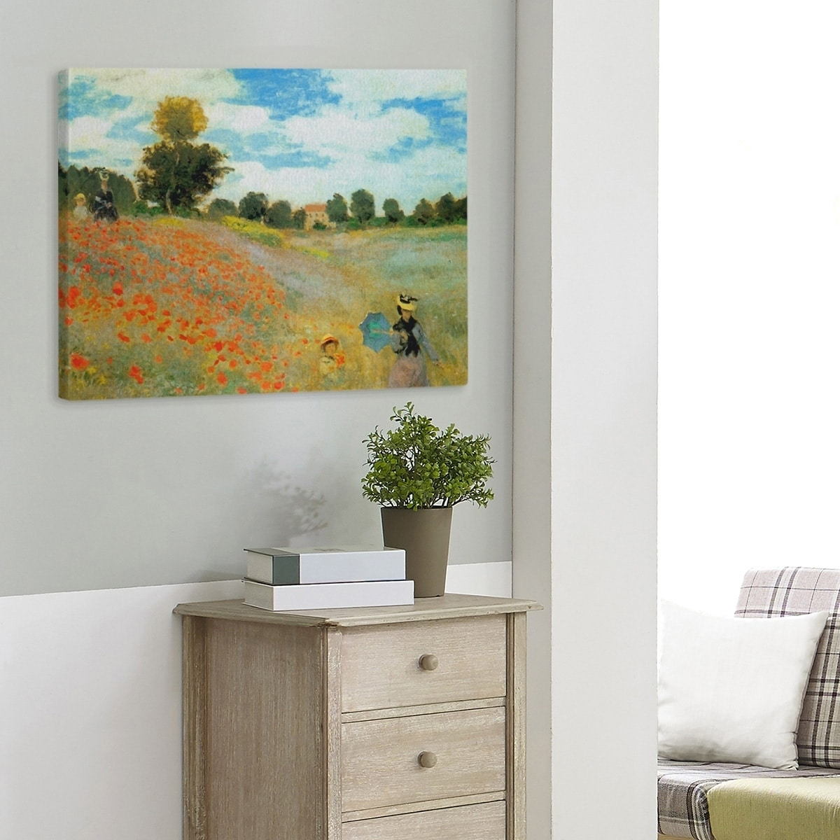 Claude Monet Poppy Field Near Argenteuil Gallery Wrapped Canvas Overstock 28274606