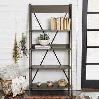 Link to The Gray Barn 68-inch Solid Pine Wood Ladder Bookshelf Similar Items in Bookshelves & Bookcases
