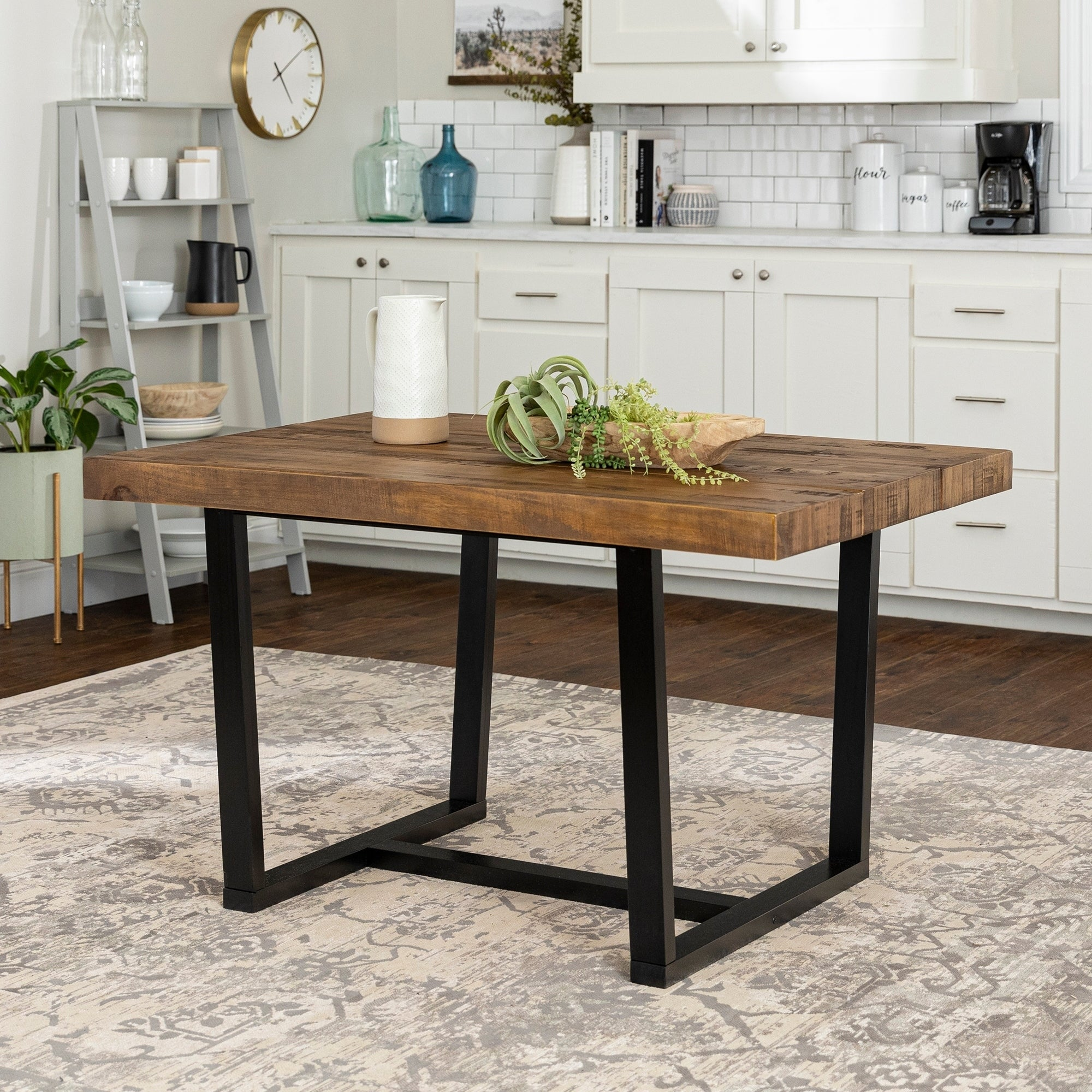 52 Inch Distressed Wood Dining Table