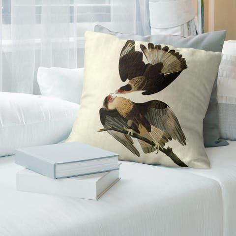 Porch & Den John James Audubon 'Brasilian Caracara Eagle' Throw Pillow