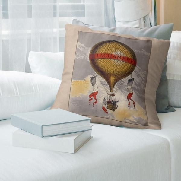 Porch & Den 'Hot Air Balloon' Throw Pillow