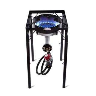 Camplux 200,000BTU Heavy-Duty Single Burner Propane Outdoor Camping Stove w/ Adjustable Height