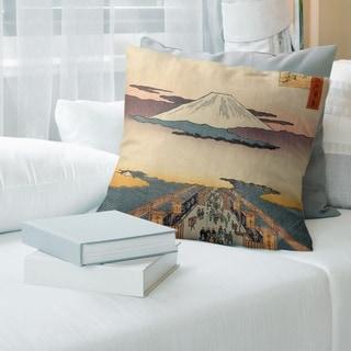Porch & Den Utagawa Hiroshige 'SuRuga-cho' Throw Pillow