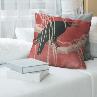 Porch & Den Katsushika Hokusai 'Crow and Willow' Throw Pillow