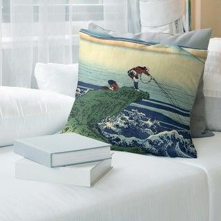Porch & Den Katsushika Hokusai 'Kajikazawa in Kai Province' Throw Pillow