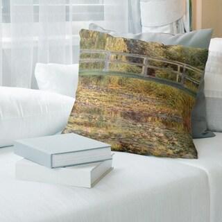 Porch & Den Claude Monet 'The Waterlily Pond' Throw Pillow