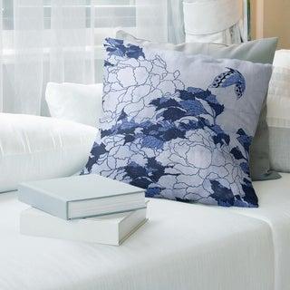 Porch & Den Katsushika Hokusai 'Peonies and Butterfly' Throw Pillow