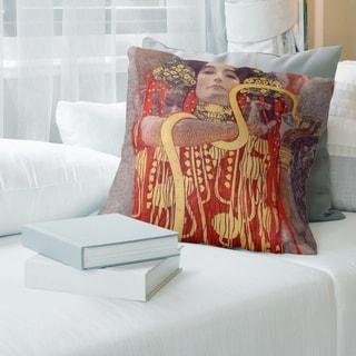 Porch & Den Gustav Klimt 'Hygeia' Throw Pillow