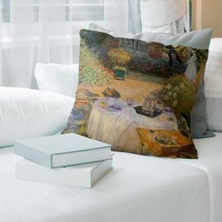 Porch & Den Claude Monet 'The Luncheon' Throw Pillow
