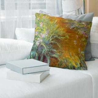 Porch & Den Claude Monet 'Through the Irises' Throw Pillow