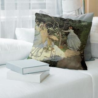 Porch & Den Claude Monet 'Women in the Garden' Throw Pillow