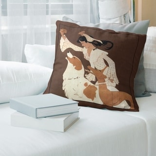 Porch & Den Auguste Roubille 'Vintage Dog Biscuit Poster' Throw Pillow
