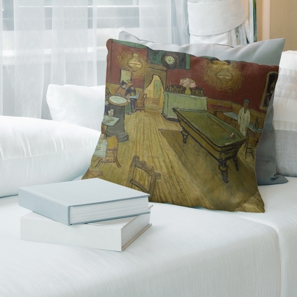 Porch & Den Vincent Van Gogh 'The Night Cafe' Throw Pillow